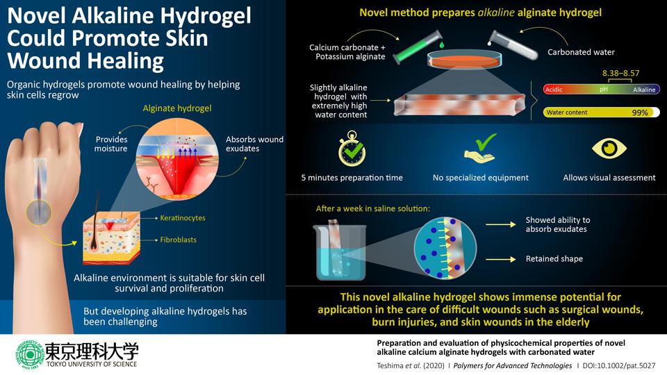 Novel Alkaline Hydrogel Advances Skin Wound Care