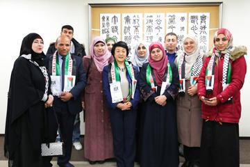 日本の教育研修を目的としてガザ地区の教員が向井特任副学長を訪問02