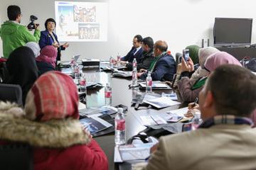 日本の教育研修を目的としてガザ地区の教員が向井特任副学長を訪問03