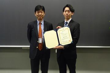 本学大学院生が化学工学会第84年会本部大会において優秀学生賞を受賞