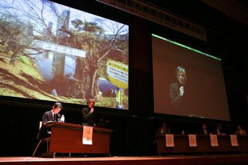 シンポジウム「地域から外濠の再生を考える」にて松本洋一郎学長が基調講演03