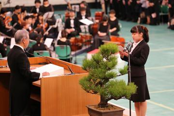 2019年度入学式を挙行_新入生代表宣誓