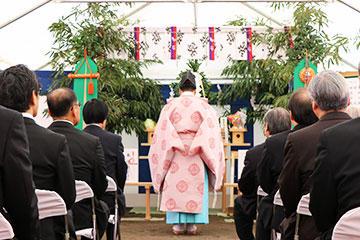 野田キャンパスにおいて新実験棟新築工事に係る地鎮祭を開催01