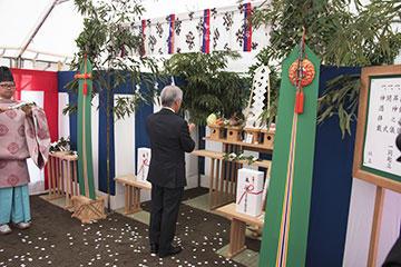 野田キャンパスにおいて新実験棟新築工事に係る地鎮祭を開催03