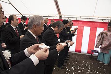 野田キャンパスにおいて新実験棟新築工事に係る地鎮祭を開催04