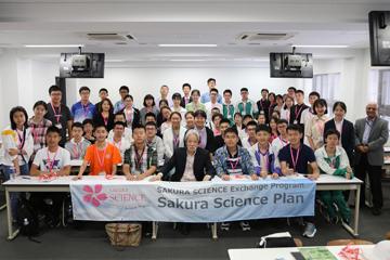 JST主催「さくらサイエンスプラン」 中国から高校生50名が本学に来校_01