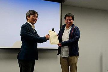 本学大学院生が2019年環境ウイルス研究集会において、優秀講演賞を受賞