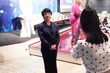 Chiaki Mukai, Specially Appointed Vice President of Tokyo University of Science, gave a Keynote Speech at Women in Limitless