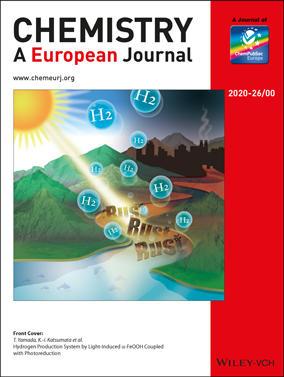 本学教員らによる論文がWILEY出版『Chemistry - A European Journal』誌のHot Paper とCover Pictureに選出