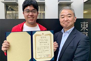 本学大学院生が化学工学会第51回秋季大会環境部会シンポジウムにて優秀賞を受賞