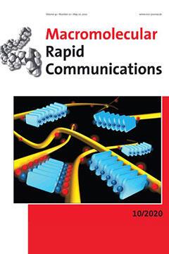 本学教員及び卒業生らの論文がドイツのWiley出版社発行『Macromolecular Rapid Communications』誌のFront Coverに選出