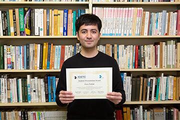 本学大学院生が国際会議ICETC 2020においてStudent Presentation Award受賞