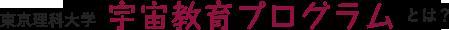 東京理科大学 宇宙教育プログラム