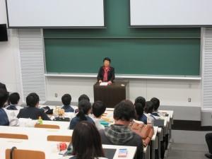 向井千秋 副学長が今年度のプログラムについて総評を行いました